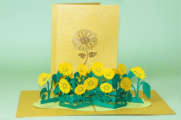 Thiệp Pop Up Hoa Hướng Dương – Một Món Quà Xinh Đẹp Và Tuyệt Vời