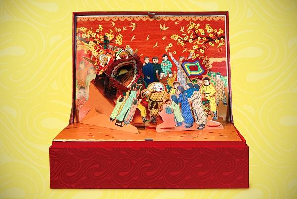 Hộp quà Tết 3D pop - up: Trân trọng những giá trị truyền thống của dân tộc