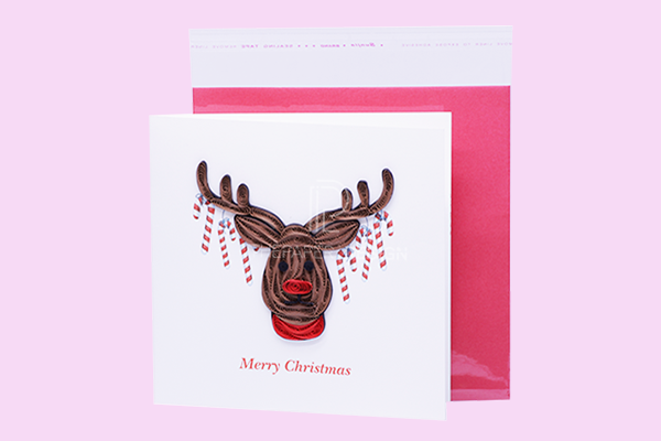 The Paper Design Christmas Deer Quilling Card
